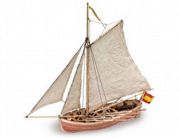 The Artesania Latina San Juan Nepomuceno's Cutter Wooden Model Kit from the wooden ship model range measures 405mm long, 365mm high and 190mm wide. This wooden boat kit is highly realistic with many fine details. This kit is ideal for the beginner.