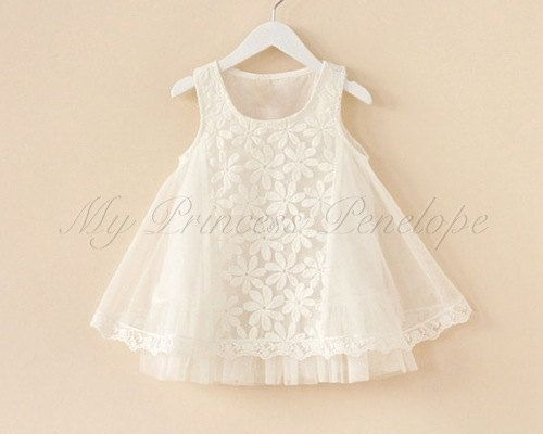 Hey, I found this really awesome Etsy listing at https://www.etsy.com/listing/193850681/baby-girls-white-flower-lace-tutu