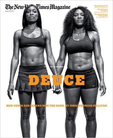 """History makers, Venus and Serena Williams gracing the cover of the latest issue of """"The New York Times Magazine"""". Beautiful cover!"""