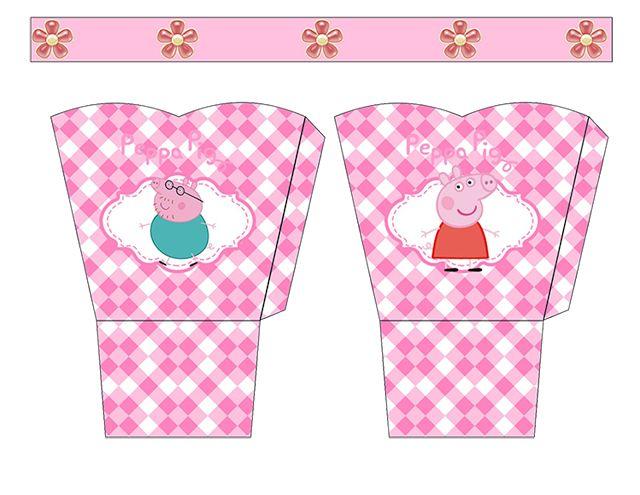 Peppa Pig  Free Printable Basket.