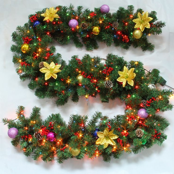Buy Christmas Garland with Lights for Decoration Christmas Holiday Decor Christmas Gifts with Lowest Price and Top Service!