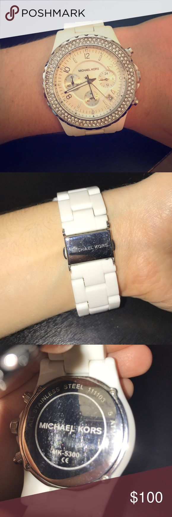 White Michael Kors Watch Gently used, No scratches on face MICHAEL Michael Kors Accessories Watches