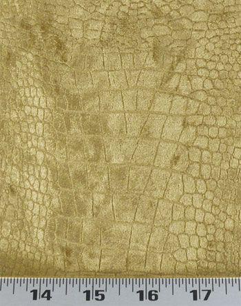 Crocodile Velvet Gold