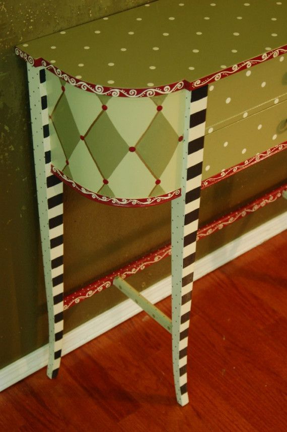 Rosemary and Thyme Hand Painted Hall by madteapartyfurniture