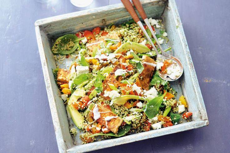 Afbeeldingsresultaat voor quinoasalade met goudbruine tofu