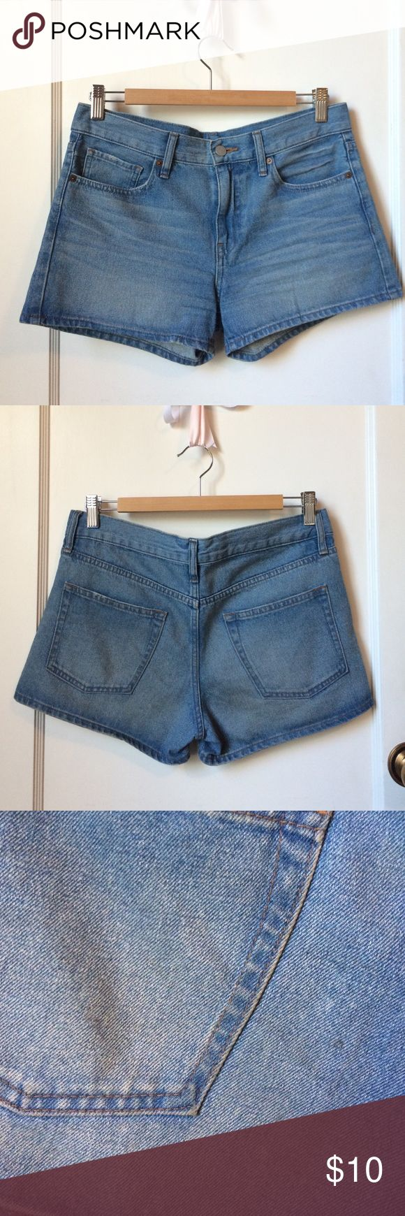 Uniqlo Jean Shorts! Jean Shorts from Uniqlo! Good condition (worn twice) except for 3 small black spots as seen in last picture. Not too noticeable...might come out with stain remover (I only use eco friendly laundry detergent). No trades. Reasonable offers accepted. Uniqlo Shorts Jean Shorts