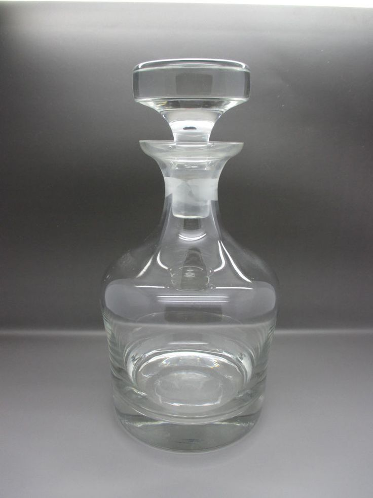 Modern Round Clear Crystal Whisky Port Or Spirit Decanter