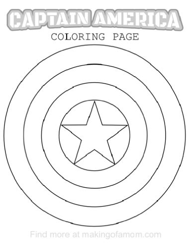 66 best images about superhero party on pinterest iron for Captain america shield coloring page