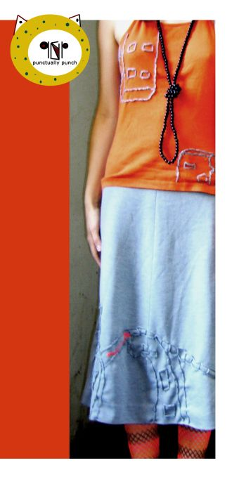 TOP & SKIRT WITH HUNGARIAN PANEL-HOUSE PATTERNS / MW COLLECTION /