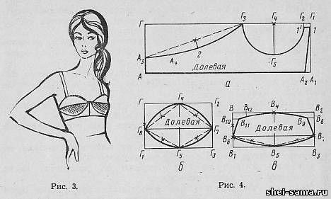 1. Бюстгальтер - Женское бельё и купальные костюмы - Раскрой и шитье женской одежды - Всё о шитье - Шей сама: