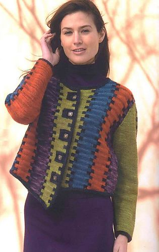 Ravelry: Shared Border Cardigan pattern by Sally Melville