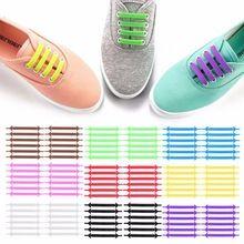 9 Colores Cordones Diseño Creativo Unisex Mujeres Hombres Calzado Deportivo Para Correr Sin Atar Cordones de Los Zapatos Cordones de Los Zapatos de Las Mujeres de la Zapatilla de deporte de Silicona Elástica