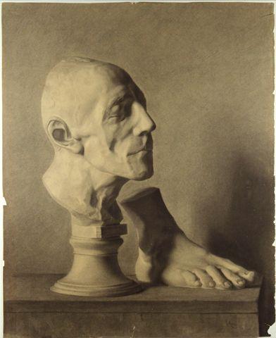 Untitled (Head & Foot), 1875, Carl von Marr, Museum of Wisconsin Art, 0086.