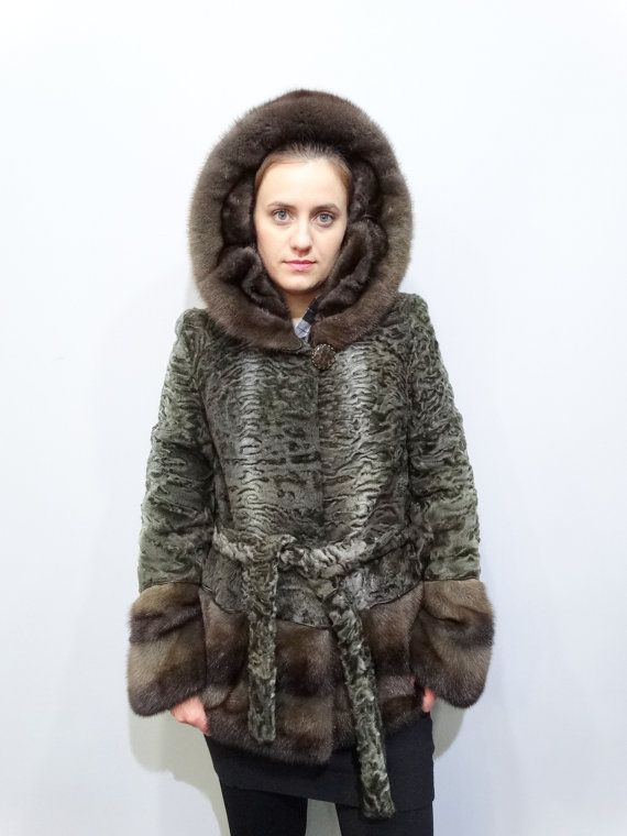 Real Astrakhan Fur with Mink Fur JacketReal by FilimegasFurs