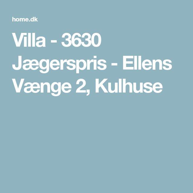 Villa - 3630 Jægerspris - Ellens Vænge 2, Kulhuse
