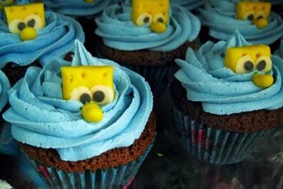 "My ""Sponge Bob"" Cupcakes!!"