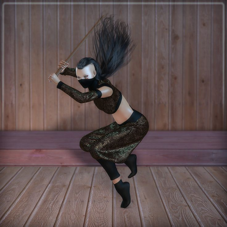 Dynamic Ninja F by Frequency // #ninja #dojo #femalefighter #martialarts #poser #renderosity #3d #dynamicclothing #dynamiccloth #poserpro #dynamic #frequency3d #frequency