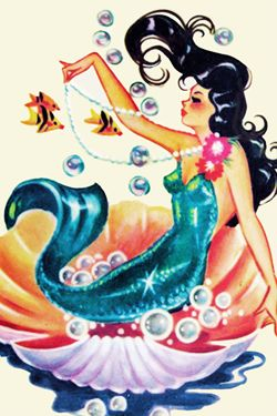 Vintage Mermaid Art  http://www.kickstarter.com/projects/theoliviadarlings/the-olivia-darlings-present-an-aquatic-arts-reviva