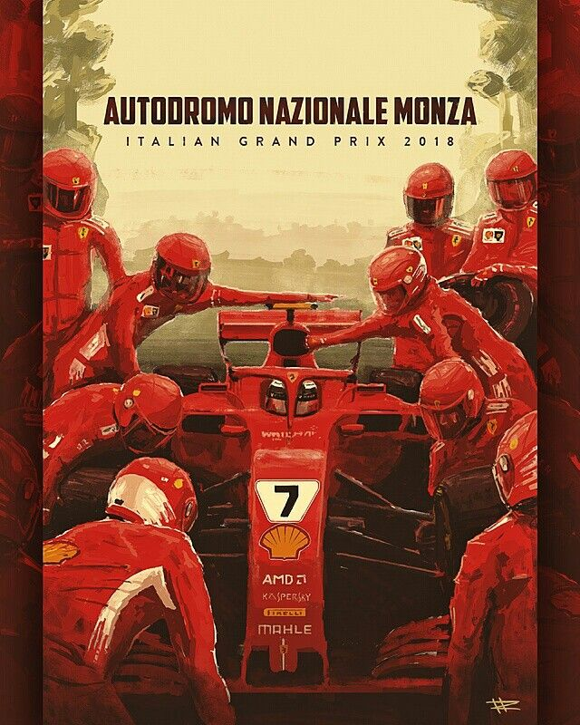 60665616ab0 Unofficial F1 Ferrari poster for the 2018 Italian Grand Prix at Monza  features Kimi Räikkönen in his Ferrari SF71H. Räikkönen s best finishes for  Ferrari at ...