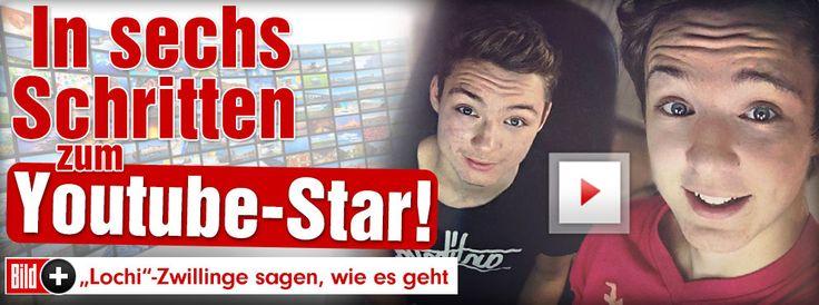 YouTube-Zwillinge: Die Lochis im BILD-Interview: So wirst auch DU zum Youtube-Star! http://www.bild.de/bild-plus/unterhaltung/leute/dielochis/youtube-zwillinge-im-bild-interview-40176520,var=a,view=conversionToLogin.bild.html
