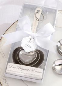 "A dash of kindness, a spoonful of laughter, a heap of love brings joy ever after! This ""Love Beyond Measure"" Measuring Spoons are simply elegant. #DBBridalStyle"