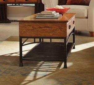 Modern Craftsman Coffee Table in Distressed Oak Finish