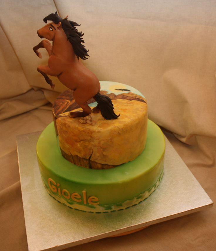 Torta Cake Design Torino : torta.dipinta.spirit cavallo selvaggio Anna Rosa Maggio ...