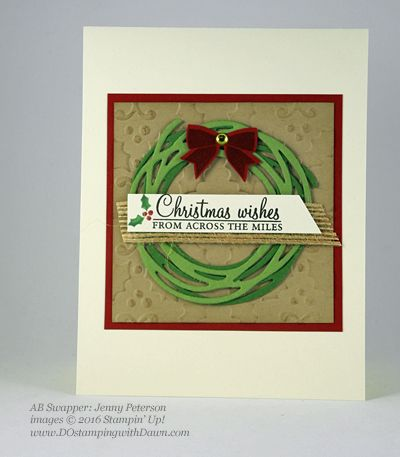 Stampin' Up! Holly Berry Happiness swap cards shared by Dawn Olchefske #dostamping #stampinup (Jenny Peterson)