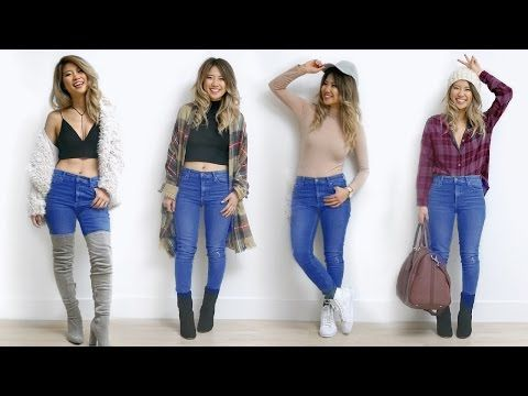 b68fa0245 3) How to Style Skinny Jeans! 7 Outfit Ideas! - YouTube | Style ...