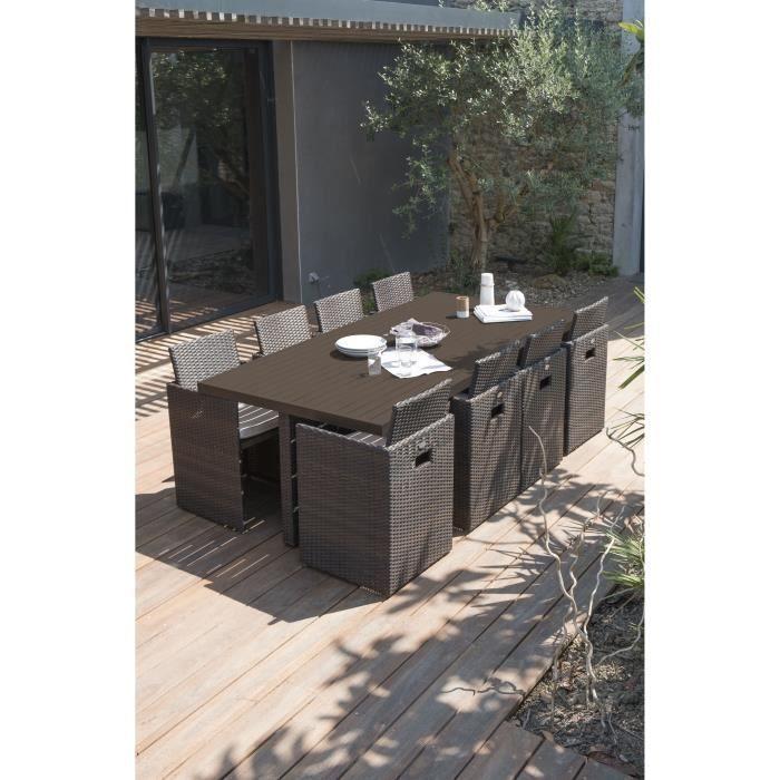 Dcb Garden Salon Encastrable 1 Table 8 Fauteuils Resine