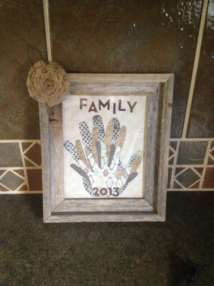 DIY Family Hands Frame