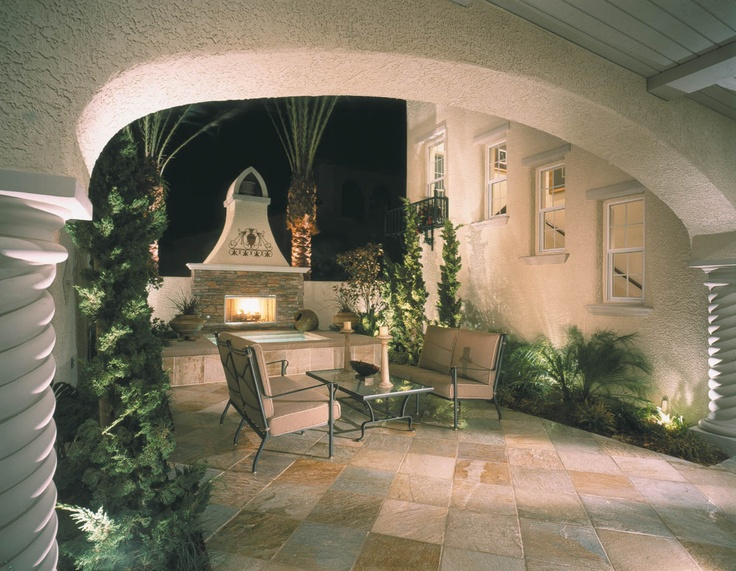 Intimate Fireplace Courtyard For Christopher Homes In Las