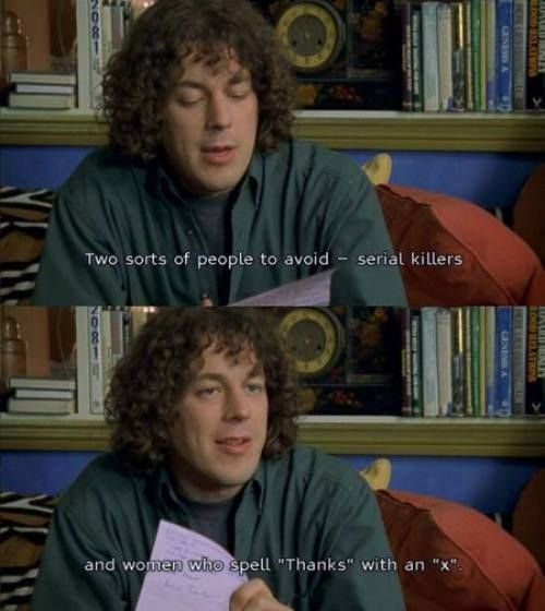 """First of all: This is funny and true! Secondly: OMG I haven't seen """"Jonathan Creek"""" in forever!!!!!"""