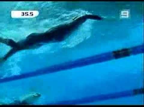 ▶ Men's100M Freestlye SemiFinal -Ian Thorpe -CG Trials 2006 - YouTube