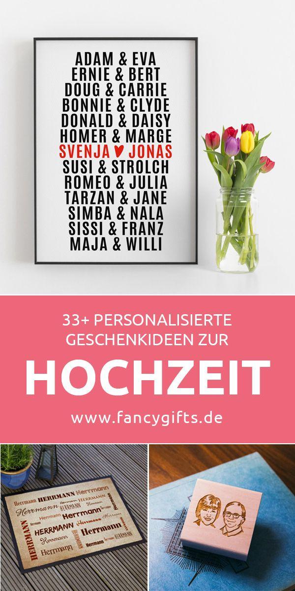 30 personalisierte Geschenke zur Hochzeit