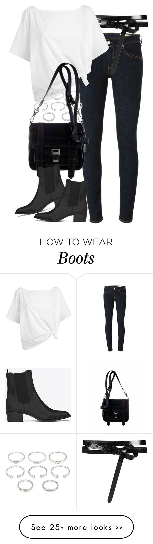 """""""Untitled #7026"""" by nikka-phillips on Polyvore featuring rag & bone, AllSaints, Red Herring, Forever 21, Proenza Schouler and Yves Saint Laurent"""