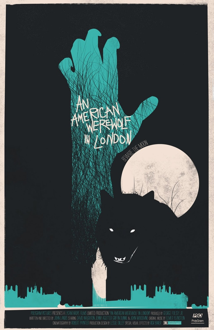 another of Fro Design Co's awesome film poster redesigns. #AmericanWerewolfinLondon