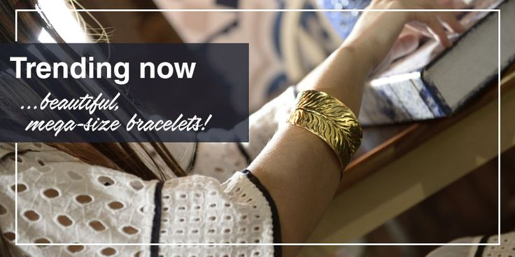 Trending now… beautiful, mega-size bracelets! Go for unusual shapes, surprising colour combos and decorative additions that stand out. Read our blog for more ideas http://www.ble-shop.com/blog/trending-now-the-mega-size-bracelet/  #BleResortCollection #Fashion #Style #Stylish #Fashionable #Jewellery #Bracelets