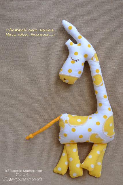 girafa de dormir moldes