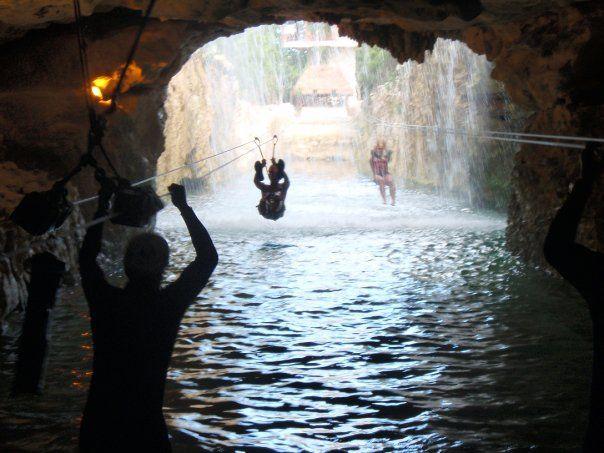 Zip-lining (through waterfalls)