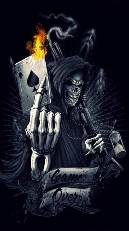 Game Over Skull Wallpaper Skull Artwork Skull Art Dangerous ghost wallpaper hd download