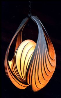 Beautiful illuminated light sculptures, that are one of a kind pieces that are custom made by Stephen White.