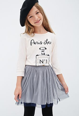 Metallic Paris Love Graphic Tee (Kids) | FOREVER21 girls - 2000080865