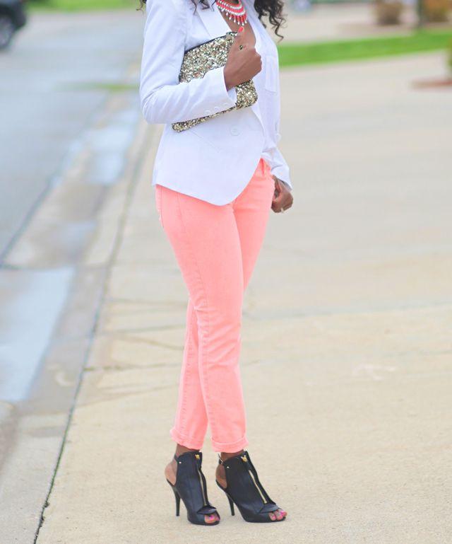 peach jeans <3