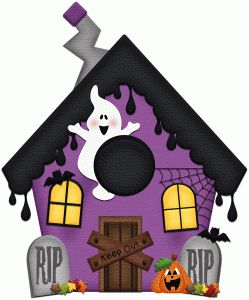 Silhouette Design Store - View Design #49052: haunted house halloween print & cut