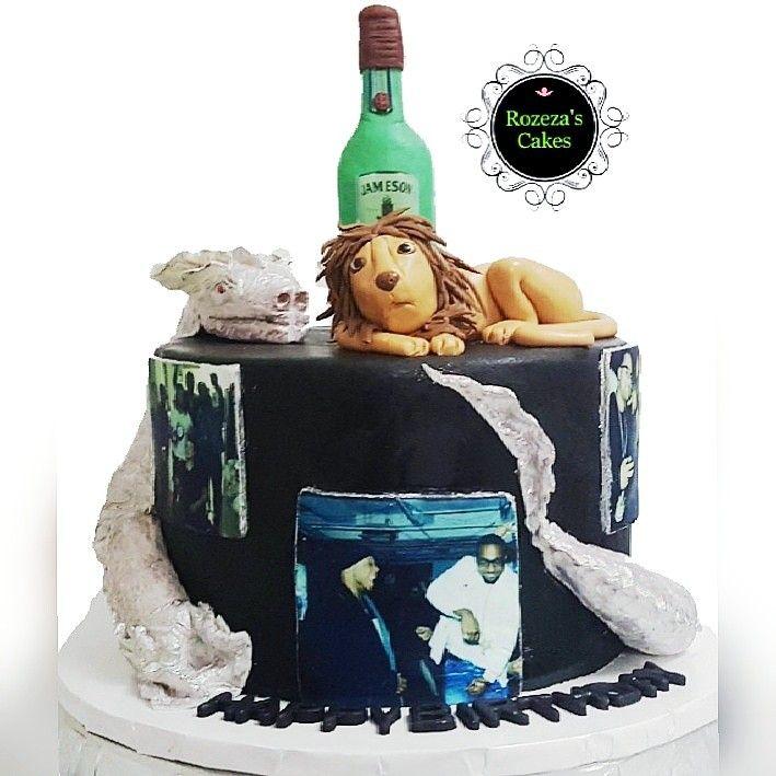 Dragon lion topper cake