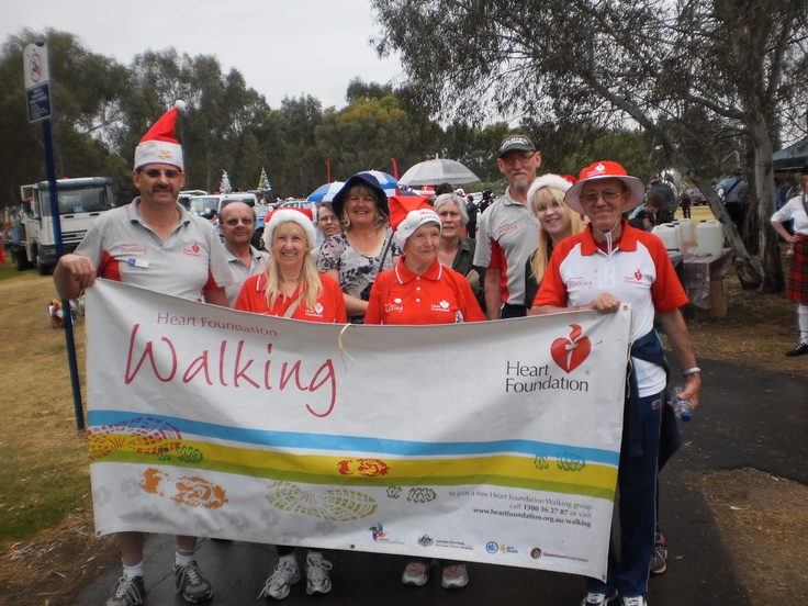 Jim from the City of Salisbury joins Heart Foundation walkers from the area in the Salisbury Christmas Pageant in 2011 - #walking #charity