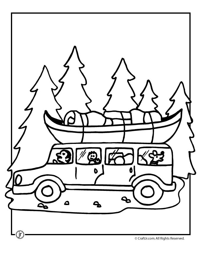 camping coloring pages free - photo#41