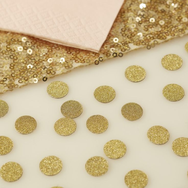 Add a touch of sparkle to a pastel themed wedding or party with this pretty gold confetti! Lovely to scatter around the guest tables. - Gold Glitter - Pastel Perfection at GingerRay.co.uk