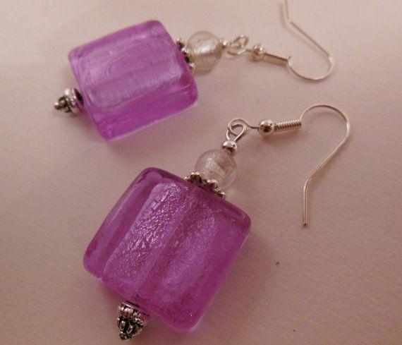 Lampwork Glass Chunky Earrings by LeelysBeads on Etsy, €10.00